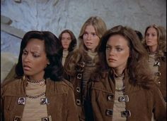 Brie (Janet Louise Johnson), Lieutenant Athena (Maren Jensen) and Lt. Sorrell (Janet Lynn Curtis) - Battlestar Galactica (Episode Lost Planet of the Gods, Part 2 (First Aired October Best Sci Fi Shows, 70s Tv Shows, Sci Fi Tv Shows, Battlestar Galactica Cast, Maren Jensen, Old Sci Fi Movies, Science Fiction, Kampfstern Galactica, Star Trek Characters