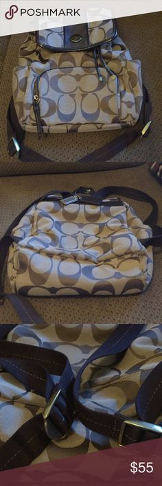 Coach backpack Looks brand new! Coach backpack measuring roughly 12 by 13inches. Coach Bags Backpacks
