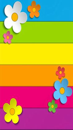 Colorful Wallpaper, Flower Wallpaper, Cool Wallpaper, Wallpaper Backgrounds, Cellphone Wallpaper, Iphone Wallpaper, Borders For Paper, Cute Wallpapers, Rainbow Colors