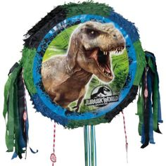 Pull String Jurassic World Pinata 18in x 19in - Party City