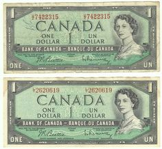 Circulated Uncertified Banknote Bank of Canada Paper Money Canadian Coins, I Am Canadian, Canadian History, Money Background, Ancient World History, Money Pictures, Coins Worth Money, Old Money, Money Box
