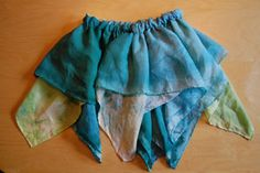Play silk fairy skirt.  A great use for all those old playsilks I can't bring myself to throw away!