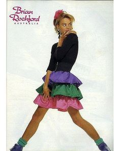 Best Fashion Look : Dolly magazine, November 1987 - Brian Rochford ad Dolly magazine, November 1987 - Brian Rochford ad. I think every girl wanted to 80s Fashion Party, 80s And 90s Fashion, 1987 Fashion, School Fashion, Paris Fashion, Fashion News, 80s Trends, New Retro Wave, Bubble Skirt