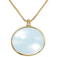 6X Monocle Magnifier Glass Necklace