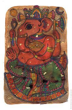 Dhimant Vyas - Ganesha @ Natura | StoryLTD  | #Indian #Art #StoryLTD #Gift #Ganesha
