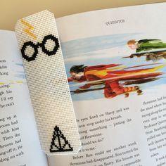 Minimalist Harry Potter Glasses Cross Stitch Bookmark by CraftShimmy on Etsy