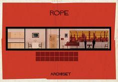 ARCHISET de Federico Babina: un tributo al diseño interior de los Clásicos del Cine