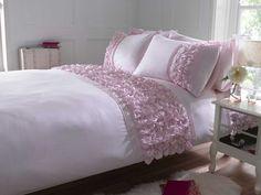 Amersham Luxury Ruffled Duvet Cover SET Pink White Duckegg Oyster | eBay