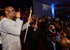 Marvin Boss CEO 'Don Jazzy' with his one of a kind Swarovski cane.