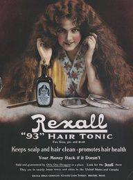 Hair Tonic Ad- have a tin plate with this ad at my salon! Love <3
