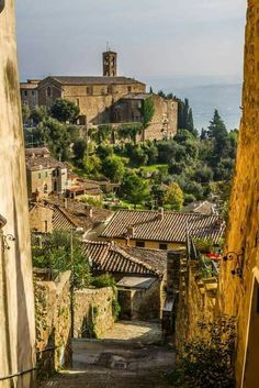 Montalcino is a hill town and comune in Tuscany, Italy. It is famous for its Brunello di Montalcino wine.. The town is located to the west of Pienza, close to the Crete Senesi in Val d'Orcia. It is 42 kilometres (26 mi) from Siena, 110 kilometres (68 mi) from Florence and 150 kilometres (93 mi) from Pisa. The Monte Amiata is located nearby.