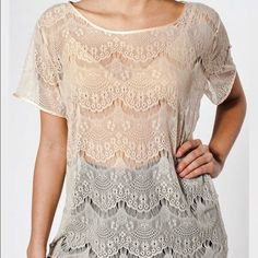 """✨HP!✨ American Apparel Lace Tee """"El Salvador"""" lace tee by American Apparel. Worn a couple of times, but still in perfect condition. Size is xs, but like a lot of AA tops, this is roomy - I'd say it could definitely fit a small  and still look fabulous. Adorable shirt. American Apparel Tops Tees - Short Sleeve"""
