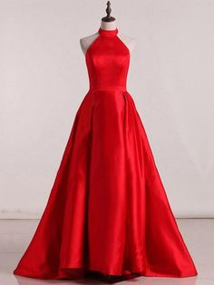 Prom Dresses Beautiful, Sleeveless Halter Open Back Prom Dresses,A Line Satin Evening Dresses, Looking for the perfect prom dress to shine on your big night? Prom Dresses 2020 collection offers a variety of stunning, stylish ball. Open Back Prom Dresses, A Line Prom Dresses, Cheap Prom Dresses, Trendy Dresses, Formal Dresses, Homecoming Dresses, Ladies Dresses, Dresses Dresses, Long Dresses