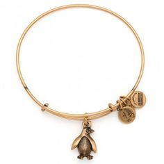 I love Alex & Ani Penguin Charm Bangle Russian Gold win your wrist list