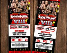 Wrestling Invitation Party Wrestle By HDInvitations More Diy Wwe