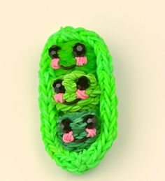 rainbow loom patterns | ... Peas In A Pod : How adorable are these little peas?? (via Loom Love