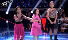 "Stephanie Jordan, Bianca Marbella and Telesa ""Esang"" Marie de Torres performed their version of ""Somewhere Out There"" by Linda Ronstadt on The Voice Kids Philippines Season 2 'Battle Rounds,' August 2, 2015."