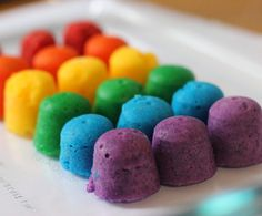Scented and colorful rainbow science for kids
