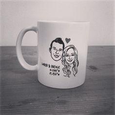 Custom Portrait Mug @lilimandrill www.lilimandrill.fr #etsy #coupleportrait #EtsyGifts #bachelorette #etsywedding #wedding #custommug #bride #diy #couple #stamp #giftforcouple #gift #weddinggift #DifferenceMakesUs #party #engagement #mug #coffeemug