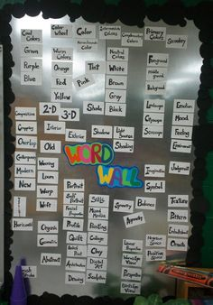 So I thought I was the only person that was going to do a magnetic word wall..LOL of course not!  ALTHOUGH, I did come up with the idea to use magnetic paint instead of a metal sheet.  Yay for my art room this year :)