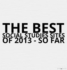 Great resource for Educational Web Sites to use in your Social Studies Classes.