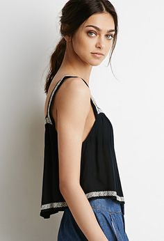 Embroidered Trapeze Top | Forever 21 | #thelatest