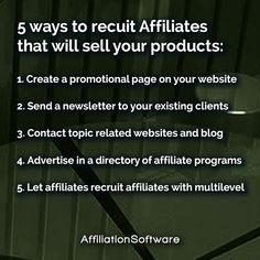 Start your own Affiliate Network, allow affiliates to promote your products and increase sales with AffiliationSoftware. Increase Sales, Growing Your Business, 5 Ways, Promotion, Software, Advertising, Products, Gadget