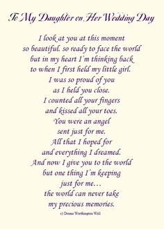 Touching And Heartfelt Poem For Daughters