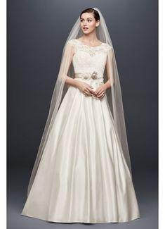 Appliqued Cap Sleeve A-Line Wedding Dress OP1329