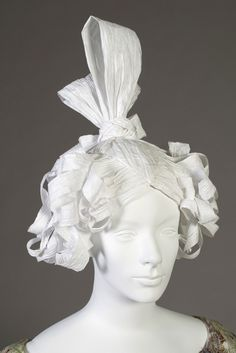 1830s style wig. Made for the Timeline exhibit at the Kent State University Museum.