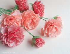 Pretty Paper Peonies from Cupcake Wrappers: these stunning paper flowers are an amazing project made with cupcake liners!