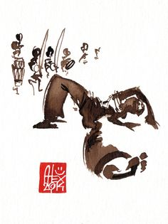 Illustration : Capoeira – 714 [ #capoeira #watercolor #illustration]