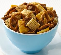 Buffalo Chex Mix.  My mom makes this and it's kind of fantastic.