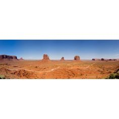 Rock formations in a desert Monument Valley Tribal Park Arizona USA Canvas Art - Panoramic Images (27 x 9)
