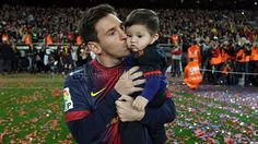 Messi and his baby, Thiago Messi <3