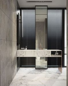 Big Mirrors Could Come Framed Or Unframed For A Smooth Look Going Unframed Is The Bathroom Design Inspiration Modern Bathroom Mirrors Marble Bathroom Designs