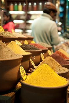 Istanbul Spice Market by kunitsa, via Flickr  Great info on how to shop at the spice market!