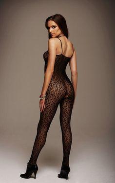 Leopard Net Bodystocking inset 1