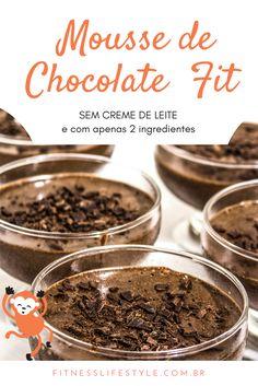 Mousse de chocolate fit sem creme de leite fácil de fazer e muito gostoso - É uma receita fácil e rápida de preparar, além de ser ótima para a sua saúde...
