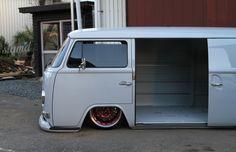 VW T2 Volkswagen custom panel van - slammed airbags - Subaru Impreza engine