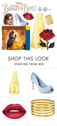 """Beauty and the Beast"" by hannahcandressup ❤ liked on Polyvore featuring Disney, Isabel Sanchis, Ted Baker, Dreamgirl and Kenneth Jay Lane"