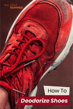 In this article, we'll cover everything that you need to know about how to deodorize your shoes to keep them smelling nice and fresh. Best Running Shoes, Running Gear, Stinky Shoes, Deodorize Shoes, Black Tea Bags, Barefoot Running, Running For Beginners, Clean Shoes, Marathon Running