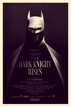 """I like the typography and treatments but I don't like the bat symbol on the cowl. """"The Dark Knight Rises"""" Gets A New Mondo Poster"""