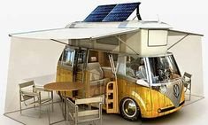 Volkswagen Verdier's Concept: Stylish Solar-Powered Eco Camper Mini Camper, Vw T3 Camper, Vw Caravan, Kombi Motorhome, Camper Van, Hippie Camper, Barbie Camper, Truck Camper, Volkswagen Transporter