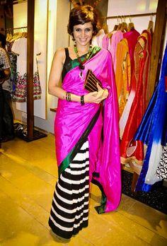 Mandira Bedi in Masaba Gupta's saree ... must-have piece!