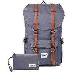 29f90441fa36e KAUKKO Rucksack Damen Herren Studenten 17 Zoll Backpack für 15 Notebook  Lässiger Daypacks Schüler Bag für