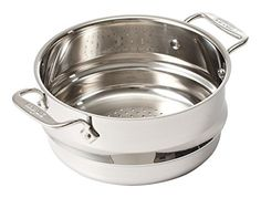 All Clad Steamer Insert. All-Clad Stainless Steel Dishwasher Safe Universal Steamer with 2 Loops / Cookware, Silver. Steamer Recipes, First Apartment Decorating, Stainless Steel Dishwasher, Kitchen Essentials, Kitchen Tools, Kitchen Pans, Kitchen Accessories, Cookware, Kitchenware