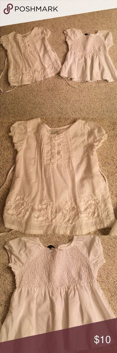 2 baby girl 24 months dress shirts/top/blouse 2 baby girl 24 months dress shirts/top/blouse in great condition One shirt and his pants place and the other shirt is  baby Gap bundle # 197 Shirts & Tops Blouses