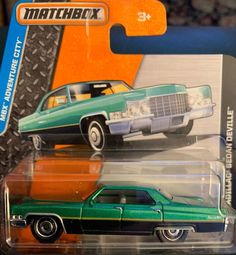 Featured is a 2015 release of a Cadillac Sedan DeVille by Matchbox. All my cars for sale are for adult collectors only. Camper Trailers, Campers, City Shorts, Matchbox Cars, Hot Wheels Cars, Cool Toys, Cadillac, Cars For Sale, Diecast