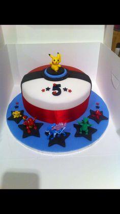 Pokemon cake, for a big Pokemon fan, my nephew aged 5 x
